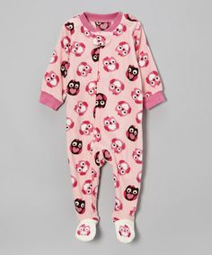 Take a look at this Pink Owl Microfleece Footie - Infant & Toddler by Vitamins Baby on #zulily today!