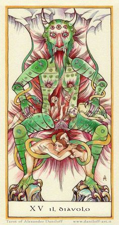 Haunting & Beautiful Devil Card: CARTA DELTAROT....