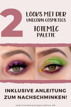 Review zur Unicorn Cosmetics Totemic Palette. Inklusive 2 Augen Make up Looks zur Inspiration für Deinen nächsten Makeup Look. Für beide AMU's findest Du eine Step by Step Schminkanleitung. So kanns du die Looks für die Augen ganz leicht zu Hause nachschminken. #eyemakeup #makeup #makeuplook #augenmakeup #makeuptutorial #tutorial