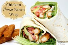 Chicken Bacon Ranch Wrap-These turned out pretty darn good! I used crispy chicken tenders and we added veggies and ranch, thad liked it with southwestern too