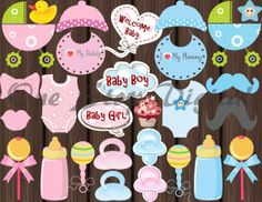 Instant Download BABY SHOWER Photo booth Props by OneStopDigital, $5.55