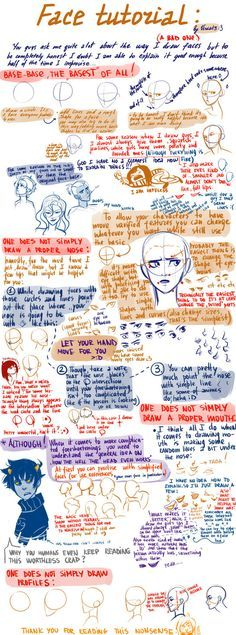 A very bad face tutorial by viria13 on deviantART - Actually, it's fabulous!