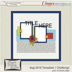 Quality DigiScrap Freebies: Template freebie from Little Rad Trio