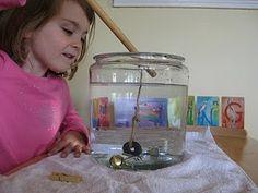Pesca magnética, una gran idea para trabajar la motricidad y la destreza. Muy divertido
