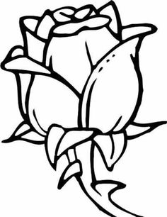 Rose Coloring Page. Rose Coloring Page