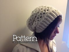 Crochet PATTERN - Cute & Cozy Slouchy Beanie. $4.50, via Etsy.
