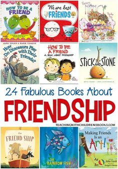 Fabulous and Fun Kids Picture Books About Friendship Read these 24 picture books about friendship. These books on friendship for kids will remind your child of the importance of being a good friend.Read these 24 picture books about friendship. These books Preschool Friendship, Friendship Activities, Friendship For Kids, Friend Book, Character Education, Art Education, Preschool Books, Mentor Texts, Social Emotional Learning