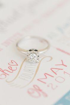 Beautiful engagement ring: http://www.stylemepretty.com/little-black-book-blog/2014/09/18/boho-chic-travel-themed-orlando-wedding/ | Photography: Amalie Orrange - http://amalieorrangephotography.com/