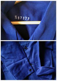 Vintage Indigo French Work Jacket chore by EphemereIntemporel #EtsyWorkwearTeam