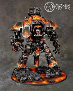 Warhammer 40k | Imperial Knight | Legion of the Damned Imperial Knight #warhammer #40k #40000 #wh40k #wh40000 #warhammer40k #gw #gamesworkshop #wellofeternity #miniatures #wargaming #hobby #tabletop