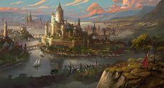 Places PT 3 Fantasy castle Fantasy city Fantasy landscape