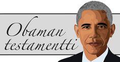 Obama -illustration @ Stina Tuominen