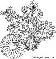 Paisley Coloring Page 4
