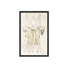 Ballet Dancers Drawings ($159) via Polyvore featuring home, home decor, wall art, wooden wall art, wooden home decor, wood home decor and wood wall art