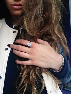 Shining bright with # My Gemporia. Blogger Valentina from Fashionneed09.com styling Gemporia's moonstone ring