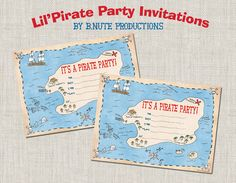 bnute productions: Free Printable Pirate Party Invitations
