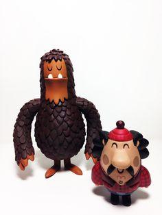 Salvatore the Sasquatch & George 2011 #Art #Toy #Design