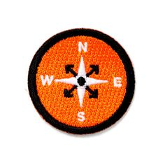"""Get lost Embroidered patch Iron-on adhesive backing Measures 1.5"""" tall x 1.5"""" wide"""