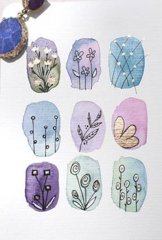 Watercolor Paintings For Beginners, Watercolor Art Lessons, Watercolor And Ink, Watercolor Illustration, Watercolour Painting, Watercolor Flowers Tutorial, Guache, Art Plastique, Doodle Art