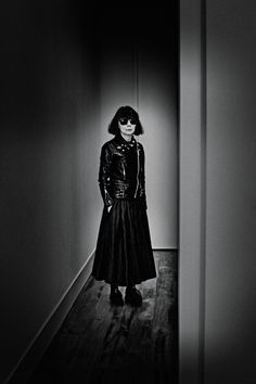 """thinkingimages:   Rei Kawakubo From the very creation of her line Comme des Garçons in 1969, the  Japanese designer Rei Kawakubo has upended, reimagined, and  revolutionized the codes and concepts of what fashion is and what it can  be. Now 73, Kawakubo is no less visionary, still """"drowning in the  dark,"""" as she describes it, in search of something new… http://www.interviewmagazine.com/fashion/rei-kawakubo-1/"""