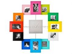 Zegar ścienny PT Family Time z 12 ramkami na zdjęcia wielokolorowy  http://www.citihome.pl/zegar-scienny-pt-family-time-z-12-ramkami-na-zdjecia-wielokolorowy.html