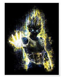 Premium Poster Vegeta Fury Barrett Biggers Poster Kaufen Fantasy Poster Grafikdesign Illustration