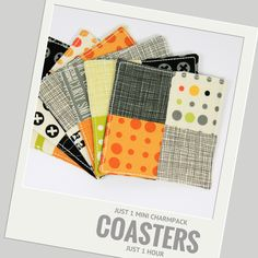 Coasters from Mini Charm Packs, 1 Mini Charm Pack, one hour project