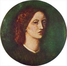 Lizzy Siddal self portrait.  Elizabeth Siddal (1829-1862), model for the Pre-Raphaelite Brotherhood and wife and student of Dante Gabriel Rosetti. Siddal died of an overdose of laudanum when she was 33.