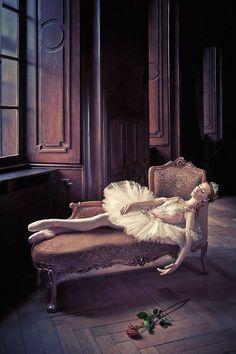 Edita Raušerová in a promotional shoot for The Sleeping Beauty.  Photo (c)Pavel Hejný.