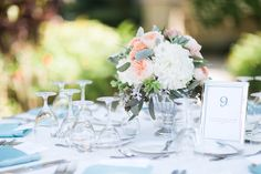 A Romantic Mint and Peach Wedding