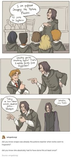 HP comic - Tonks as Severus Snape>>> she had to have done this.