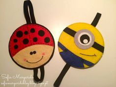 Joaninha, minion marcadores de livro feltro Diy Home Crafts, Book Crafts, Felt Crafts, Crafts To Make, Sewing Crafts, Sewing Projects, Paper Crafts, Diy For Kids, Crafts For Kids