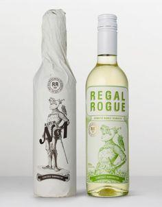 Regal Rogue on Packaging of the World - Creative Package Design Gallery Cool Packaging, Beverage Packaging, Bottle Packaging, Brand Packaging, Bottle Mockup, Wine Label Design, Bottle Design, Coca Cola, Wine Brands