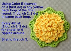Delights-Gems: crochet rose ripple potholder potholder pot holder how to pattern ripple cotton Granny Square Crochet Pattern, Basic Crochet Stitches, Crochet Motif, Crochet Yarn, Crochet Blankets, Embroidery Patterns, Potholder Patterns, Crochet Potholders, Vases