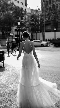 gali karten 2017 bridal sleeveless halter neck heavily embellished bodice romantic a line wedding dress open strap back sweep train (2) bv -- Gali Karten 2017 Wedding Dresses