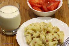 Ziemniaki ze skwarkami i cebulką - My Blueberry Corner