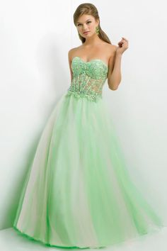 2014 Cute Prom Dress Floor Length Princess Embellished With Beads&Applique