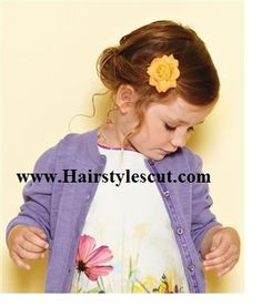 pretty flower style for little Girls Hairstyles with Long Hair for Spring | Hairstylescut.com