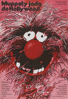 The Muppet Movie | 45 Amazing Vintage Polish Posters Of Classic American Films Artist: Waldemar Swierzy Year: 1982