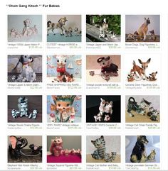 Vintage Animals and Babies on Leashes. Kitsch-y Cute at its' finest- All for sale on Etsy- Click the link !!