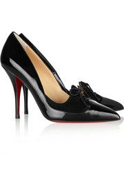 Christian Louboutin Queue De Pie 100 patent-leather pumps