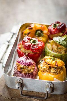 Verdure al Forno Ripiene con Quinoa e Tofu - Ecor