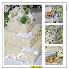 Monika a Tomáš,svatební dort
