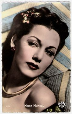 https://flic.kr/p/xaLRLm | Maria Montez | French postcard by Editions P.I., no. 259. Photo: Universal International.  Dominican film actress María Montez (1912-1951) gained fame and popularity as a tempestuous Latino beauty in Hollywood movies of the 1940s.