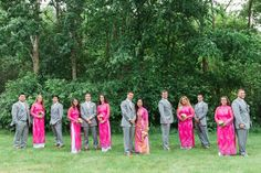 Vietnamese Tea Ceremony Wedding | Pink and Gold Custom Made Ao Dai, Grey Suits | Bridal Party | Summer Wedding | Lovely Valentine Photography