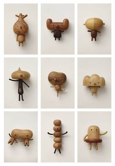 "ronbeckdesigns: ""Wood figures by Yen Jui Lin """