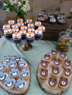 Woodlands Dessert Ideas: Fox Cookies, Bear Cakes and More! Woodlands Dessert Ideas: Fox Cookies, Bear Cakes and More! Woodlands desserts and goodies are the icing on the cake of a good Woodlands party. Baby Shower Cakes, Baby Boy Shower, Baby Shower Cupcakes For Boy, Boy Baby Shower Themes, Baby Showers, Comida Para Baby Shower, Enchanted Forest Party, Fox Cookies, Bear Cakes