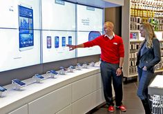 Verizon's new Destination Store at the Mall of America offers interactive demonstrations using a wall of touchscreen displays. Read more on ScreenMedia Daily