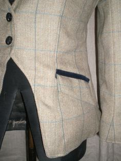 Tweed Hacking Jacket and side saddle habit
