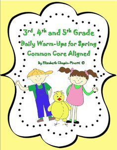 FREE Daily Reading and Writing Warm-Ups. Great for Warm-ups, Early Finishers or anytime.